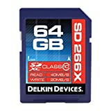 Delkin 64GB SDXC 266X UHS-I (U1) Memory Card(DDSD26664GB-A)