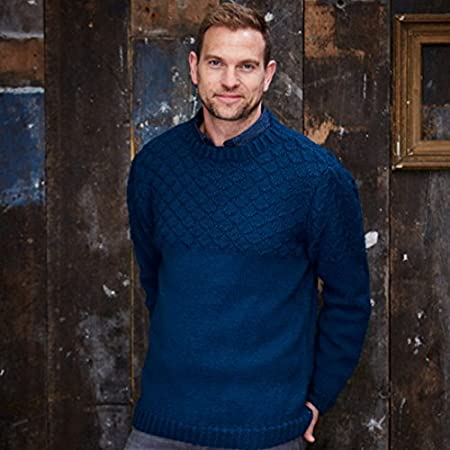 Stylecraft Mens Sweater Cardigan Special With Wool Knitting