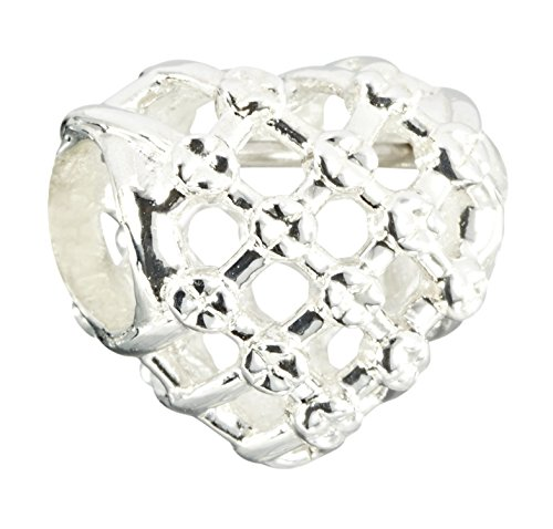 (Chamilia Sterling Silver Woven Heart Bead Charm)