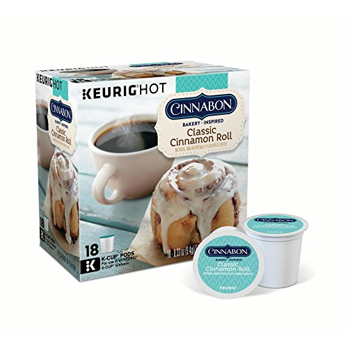 Cinnabon Classic Cinnamon Roll Keurig Single-Serve K-Cup Pods, Light Roast Coffee, 18 Count