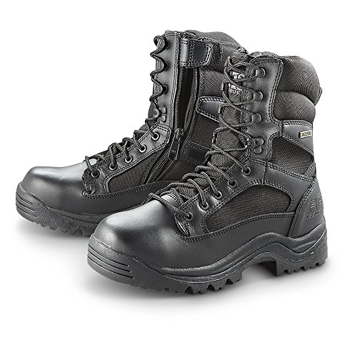 HQ ISSUE Men's Waterproof Side Zip Tactical Boots, Black, 9.5D