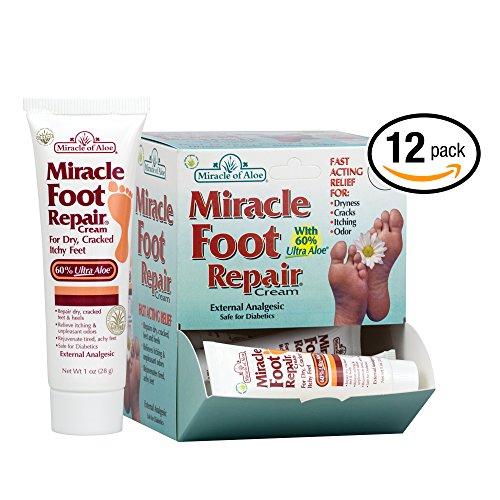 12- piece display Miracle Foot Repair Cream 1 ounce tube with 60% UltraAloe