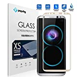 Popsky Samsung Galaxy S8 Edge Screen Protector,[3D Full Curved Edge] 9H Hardness Tempered Glass Ultra Clear Full Coverage Bubble-Free Anti-Scratch Film for Galaxy S8 Edge 6.2 inch (Gold)
