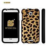 Spots8® For HTC Desire 510 ( Cricket Boost Mobile Sprint Virgin Mobile ) Glossy Image Graphic Designs 2 Piece Snap On Images Cellphone Cell Phone Hard Protect Case Cover – Fashion Cheetah Design – Retail Packaging
