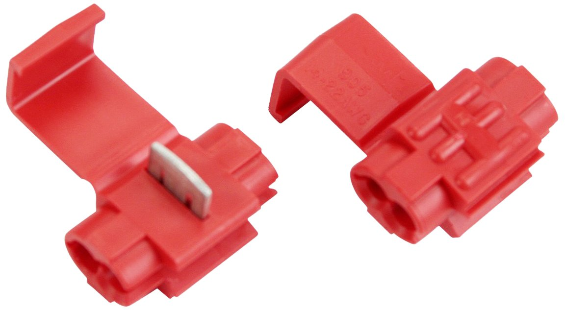 3M™ Scotchlok™ Electrical IDC 905-BOX, Double Run or Tap, Low Voltage (Automotive) Applications, Red, 22-18 AWG (Tap), 18-14 AWG (Run), 50 per carton