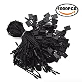 Renashed 7'' Hang Tag String Nylon String Snap Lock Pin Loop Fastener Hook Ties Easy and Fast to Attach 1000 Pieces