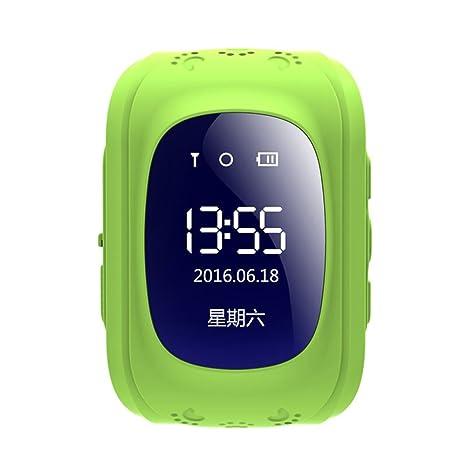 PSQMe - Reloj inteligente para niños, pantalla LCD de 0,96 pulgadas, antirpérdida