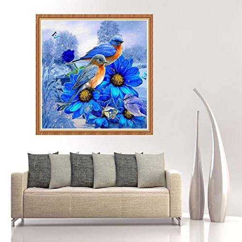 - Chenway Flower and Bird Diamond Painting DIY Cross Stitch Kit 5d-Full Diamond Embroidery Painting by Number Painting Set for Adult Canvas Oil Painting Craft Art Deco 30x30cm