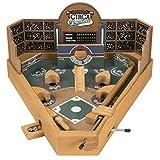 Portable Tabletop Wooden Baseball Pinball Game