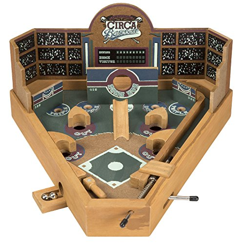 Portable Tabletop Wooden Baseball Pinball Game by TMG