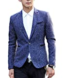 Nidicus Mens Tweed Blazer One Button Slim Fit Light & Soft Sport Coat