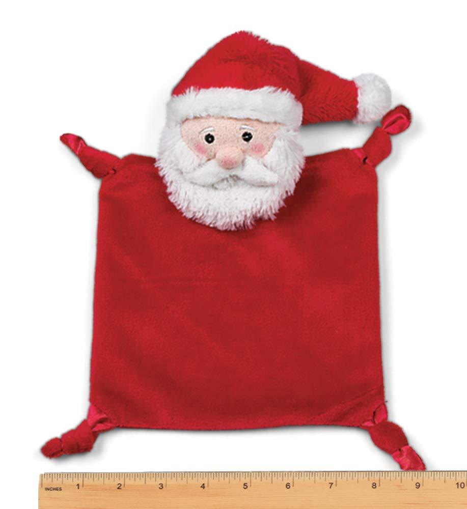 Bearington Baby Santa Snuggler Lovey 15 Christmas Plush Santa Security Blanket