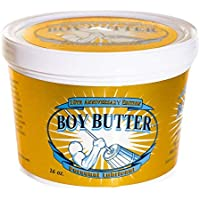 Boy Butter Gold Edition 16 Ounce Personal Lubricant | Natural Coconut Oil & Organic Silicone | Non Staining, Washable…