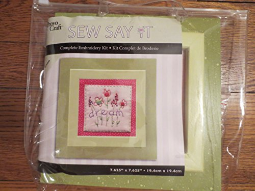 (Provo Craft Sew Say It Complete Embroidery Kit)