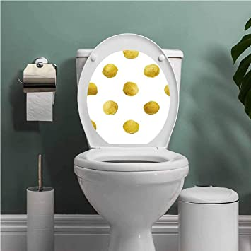 Super Amazon Com Scocici1588 Gold And White Queen Size Toilet Andrewgaddart Wooden Chair Designs For Living Room Andrewgaddartcom