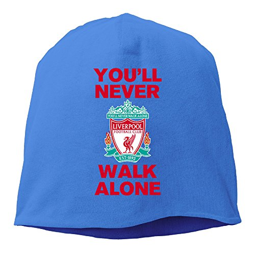 YUVIA Liverpool Football Club Men's&Women's Patch Beanie GolfRoyalBlue Cap For Autumn And Winter