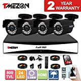 TMEZON 8CH 960H HDMI DVR Kits P2P Recorder 4x 800TVL Cameras Waterproof CCTV Surveillance Security System 3G Remote Mobile Access iPhone Android View 2TB HDD For Sale
