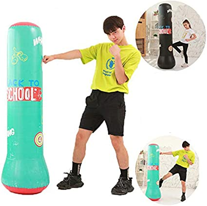 Boxing Punching Bag Inflatable Free-Stand Tumbler Muay Training Pressure Relief