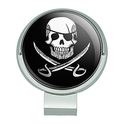 GRAPHICS & MORE Pirate Skull Crossed Swords Tattoo Design Golf Hat Clip Magnetic Ball Marker ()