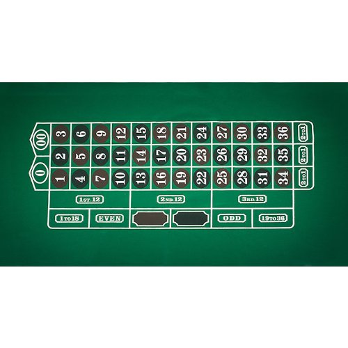 Trademark Poker Roulette Layout 36-Inch x 72-Inch, used for sale  Delivered anywhere in USA