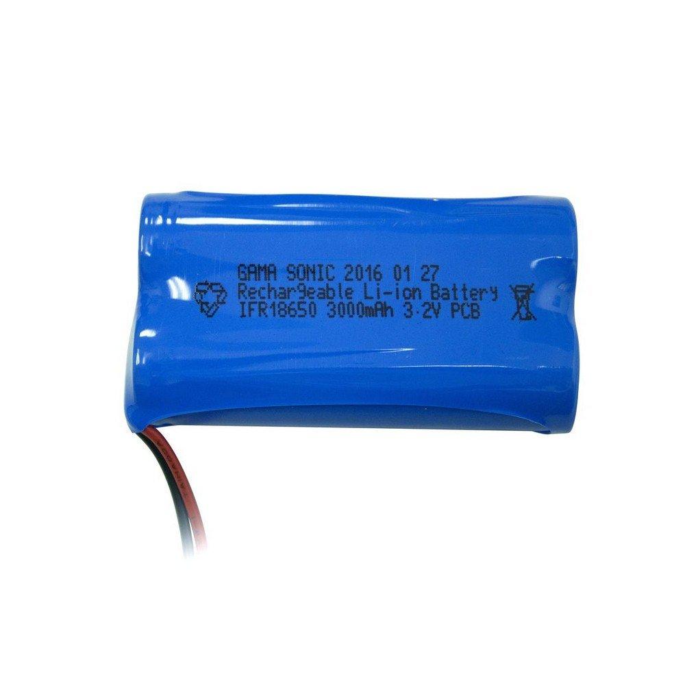 Gama Solar GS-32V60 3.2V 6000mAh Lion Battery (Pack of 2), Blue Finish