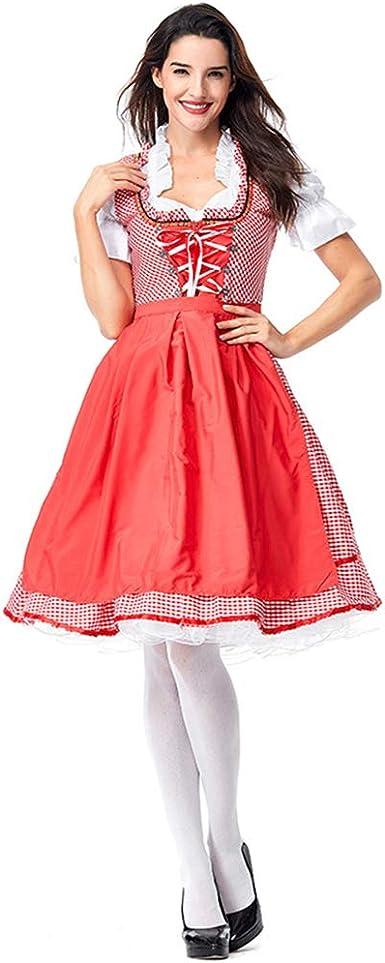 Leoie Oktoberfest - Disfraz de Sirena de Cerveza para Mujer Rojo ...