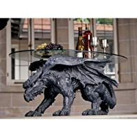 Design Toscano Warwickshire Dragon Glass-Topped Coffee Table