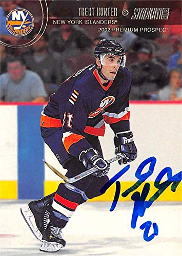 - Trent Hunter autographed Hockey Card (New York Islanders, SC) 2002 Topps Stadium Club Rookie #119