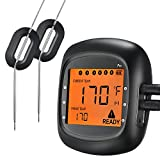 Habor Upgrade Wireless Thermometer, Bluetooth Meat Thermometer Remote Control Digital Cooking Thermometer Withstand 716℉ for BBQ Grill Smoker for iOS & Android APP Control (Dual Probes)