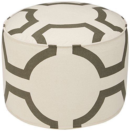 Ashley Furniture Signature Design – Geometric Pouf – Handmade – Imported – Traditional – Charcoal