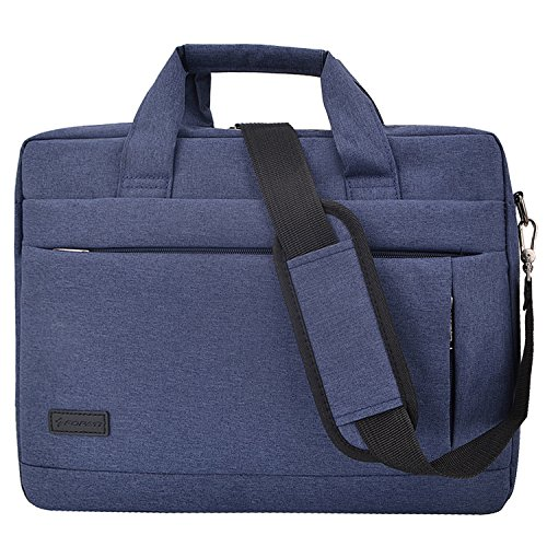 Pmallcity 14-15.4 Inch Laptop Shoulder Bag, Business Office Bag for Men Women Tote, Stylish Multi-Functional Messenger Bag for MacBook Pro 15/Acer HP Dell Lenovo 14 inch Notebook, Blue
