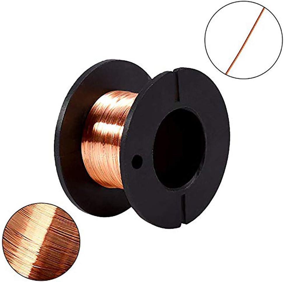 Alambre esmaltado de cobre de 0,1 mm,10 rollos, de alambre d