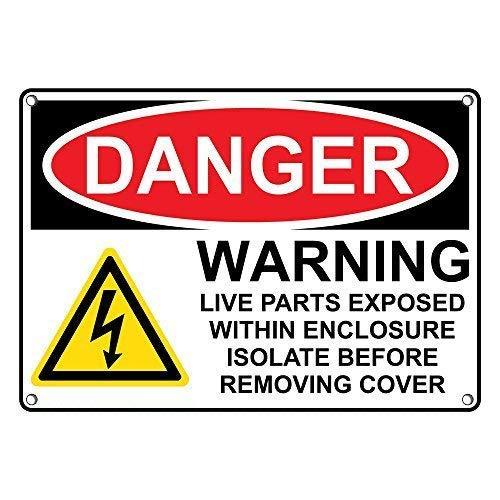 Carlena OSHA Cartel de Metal con Texto en inglés Danger ...