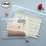 Zipper Pouch,10 pcs A5 and A4 Transparent PP