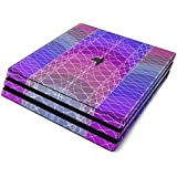Mulberry Full Faceplates Skin Decal Wrap with 2 Piece Lightbar Decals for Playstation 4 Pro