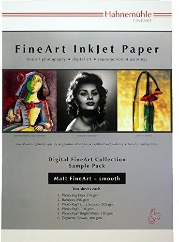 Hahnemühle 10640303 Digital FineArt Samplepack, smooth, 210 x 297 mm, matt glatt