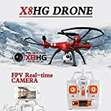Cewaal Upgraded X8HG FPV Drone with 8MP Camera Live Video + SD Card,2000mAh Battery Long Flight Time,Altitude Hold Drone