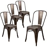Amazoncom Metal Chairs  Kitchen  Dining Room Furniture Home - Metal dining room chairs