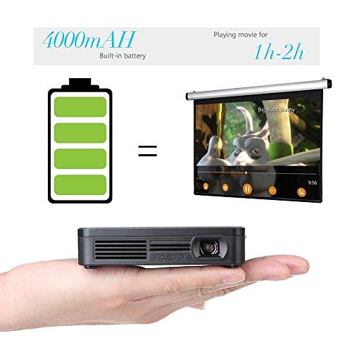 Dlp projector crenova xpe700 pico pocket video projector for Best pico projector for ipad