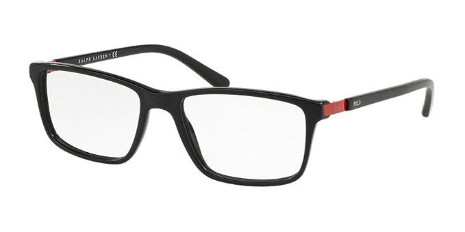 Polo 0PH2191 Monturas de gafas, Rectangulares, 54, Vintage Black ...
