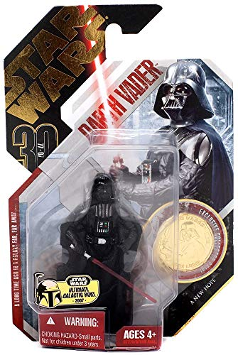Star Wars ULTIMATE GALACTIC HUNT GOLD CHASE PIECE * Darth Vader #16 A New Hope 30th Anniversary Series 2007 Action Figure & Exclusive Gold Collector Coin