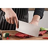 "7"" Cleaver, Chinese Butcher Knife German High Carbon Stainless Steel Kitchen Knife with Ergonomic Handle for Kitchen and Restaurant"