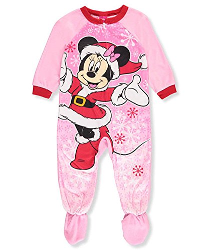 Disney Girls Toddler Minnie Mouse Fleece Footed Blanket Sleeper
