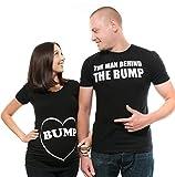 Couple Matching Bump Shirts dad Maternity mom Maternity Couple Shirts Pregnancy Tee Shirt Top Mens Shirt New mom dad tees Men XXXXXXL - Women Small