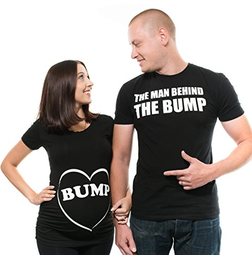 Couple Matching Bump Shirts dad Maternity mom Maternity Couple Shirts Pregnancy Tee Shirt Top Mens Shirt New mom dad tees Men XXXXXXL - Women Small by Silk Road Tees