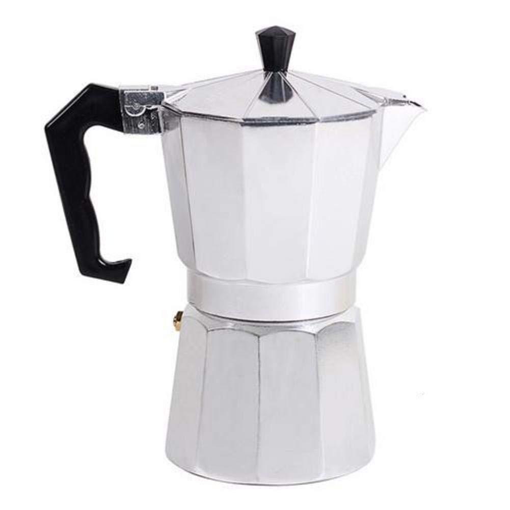 Acquisto Kbsin212caffettiera caffettiera Espresso Italiano Coffee per Stufa–Domestici Italian Ottagonale Aluminum Moka Percolator Stufa,1/3/6/9/12Cup Stovetop, Alluminio, Color, 150 ml Prezzi offerta
