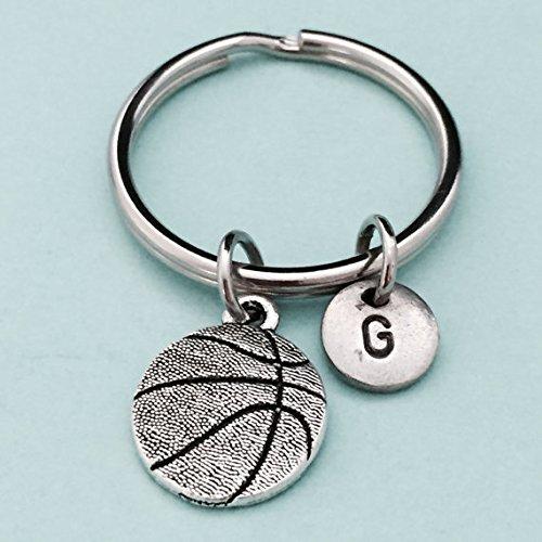 Personalized Basketball Keychains (Basketball keychain, basketball charm, sports keychain, personalized keychain, initial keychain, customized keychain,)