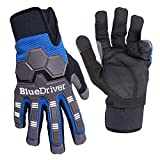 Best Impact Gloves - BlueDriver Impact Gloves (Mechanics Gloves) (Large) Review
