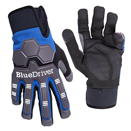 BlueDriver Impact Gloves (Mechanics Gloves) (Large)