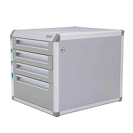 Almacenamiento de archivos Gabinete de almacenamiento de escritorio para gabinete de archivos con cajón de almacenamiento de 4 capas para documentos, papel, ...